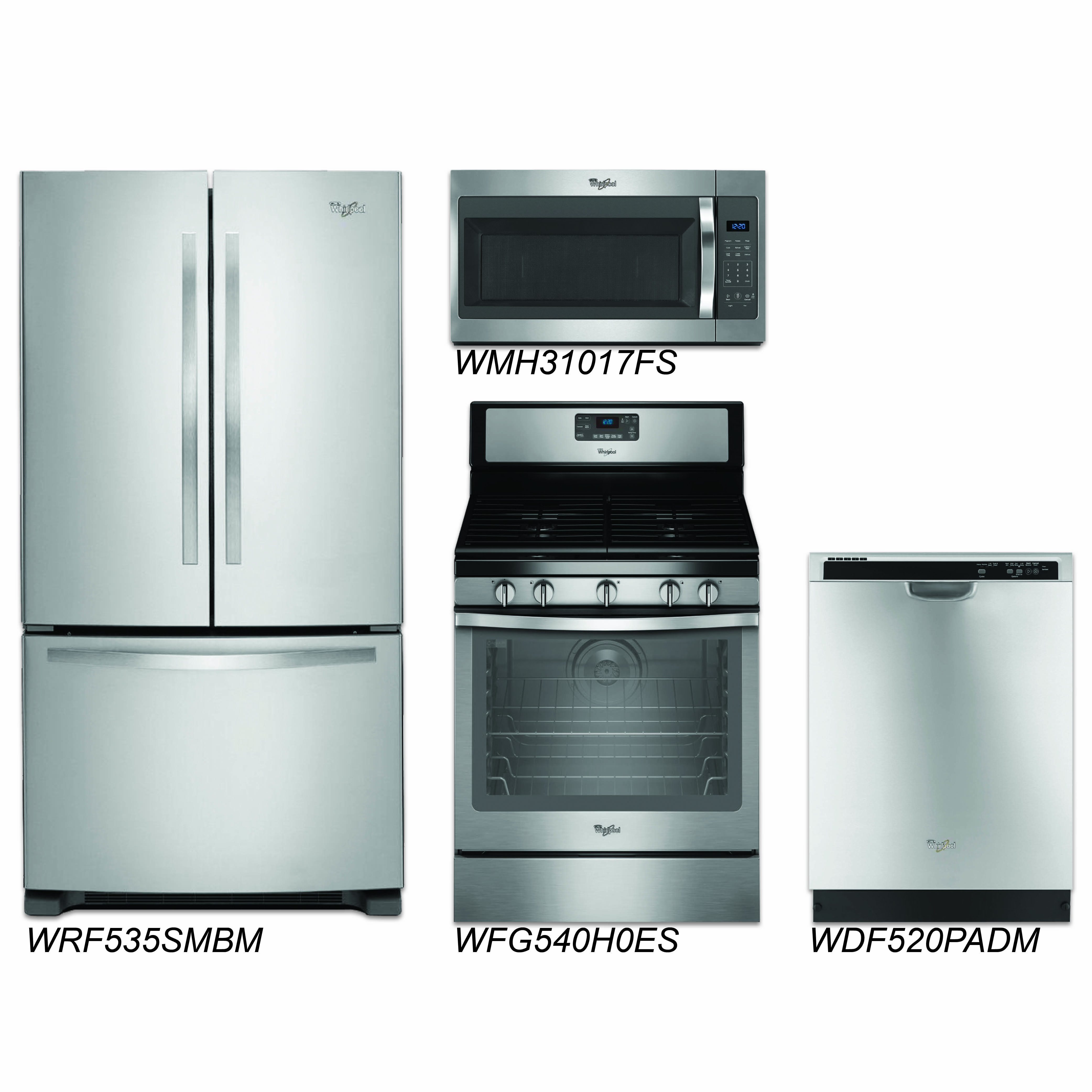 Kitchen Packages Discount Package Whirlpool 4 Piece Stainless Steel
