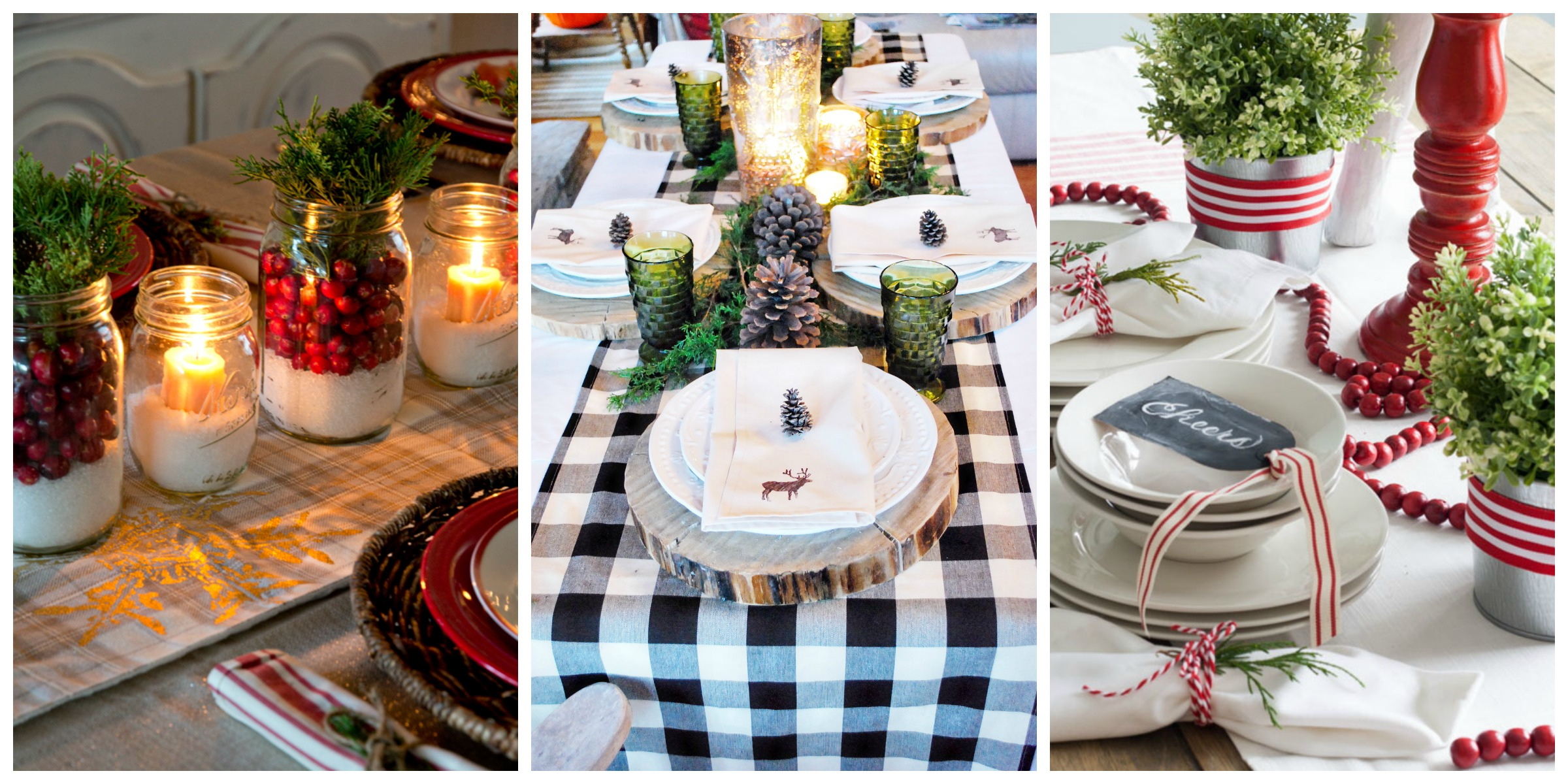 Christmas Tables Decorated 32 Christmas Table Decorations And Centerpieces Ideas For