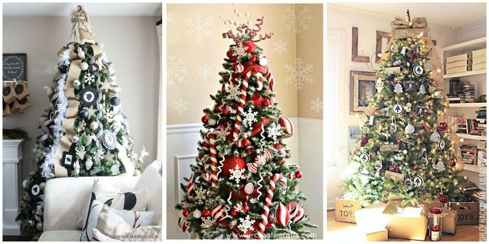 25+ Unique Christmas Tree Decoration Ideas - Pictures of Decorated - unique christmas decorations