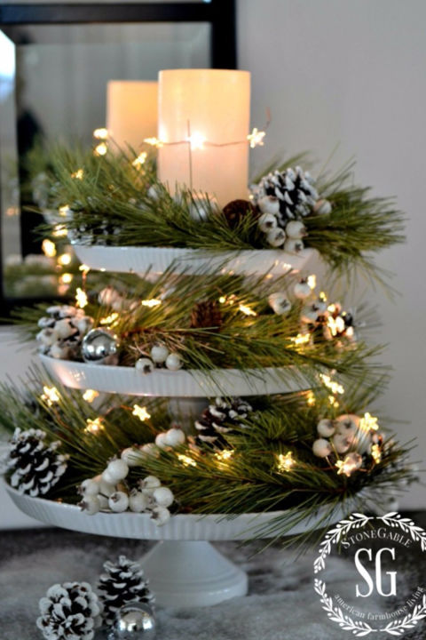 32 Christmas Table Decorations \ Centerpieces - Ideas for Holiday - christmas floral decorationswhere to buy christmas decorations