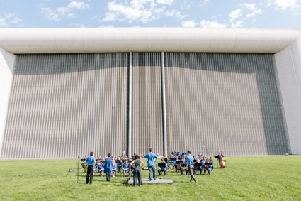 0Filming in front of the world largest windtunnel in NASA Ames reseacrh center- 6t september _photo neil berrett.jpg