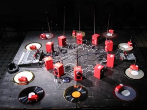 Staalplaat Soundsystem and the book that's also a paper turntable and a music instrument