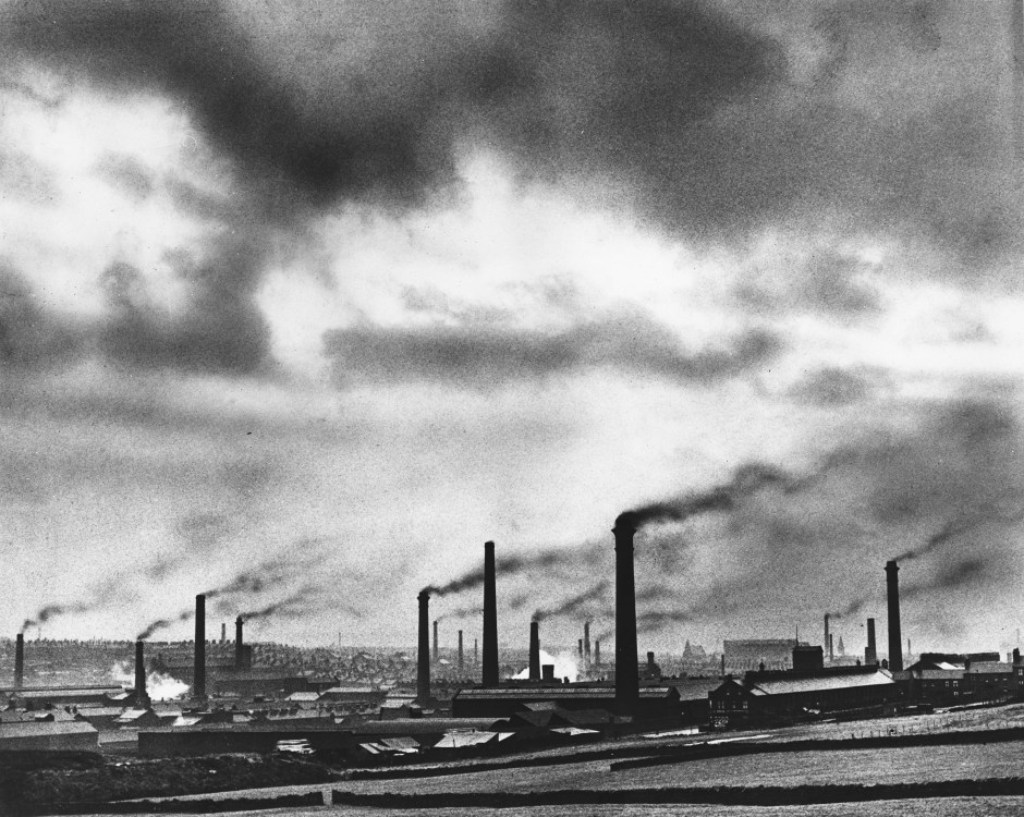 Smoking chimneys, 1950s. Courtesy of Museums and Galleries, City of Bradford MDC