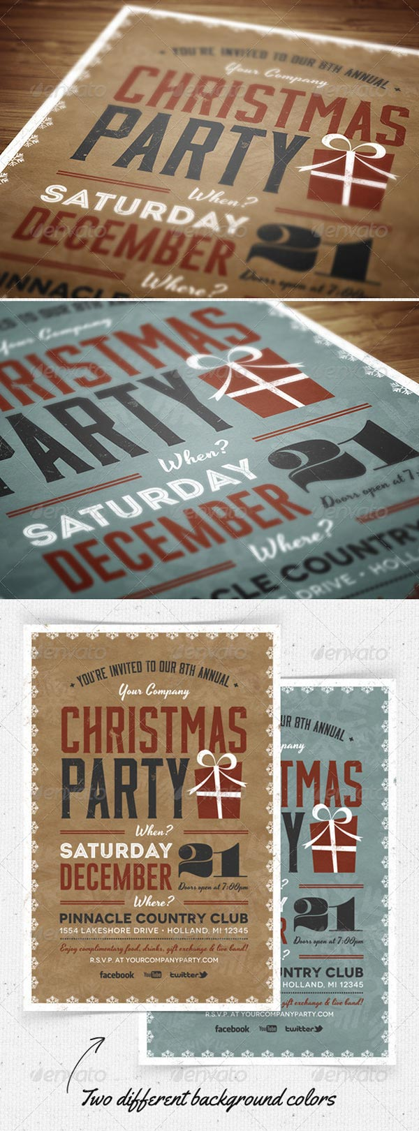 Invitation Template Christmas Party Christmas Party Flyer And Invitation Print Templates