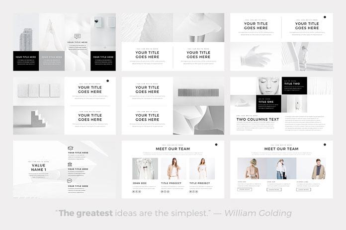 Neue \u2013 Minimalist PowerPoint Template