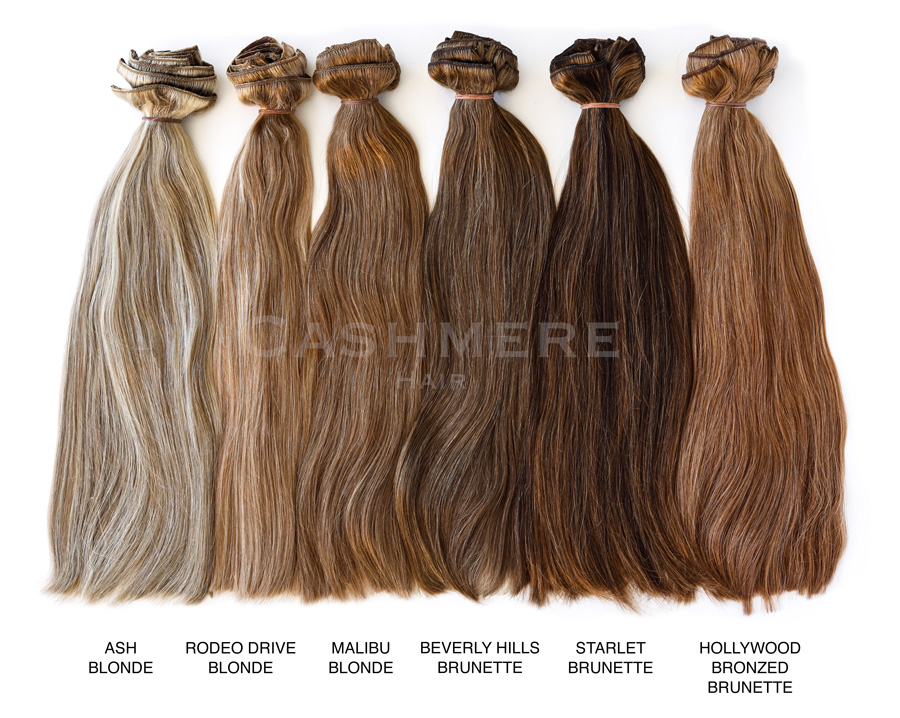 Hair Extension Color Chart Cashmere Hair Clip In Extensions - hair color chart