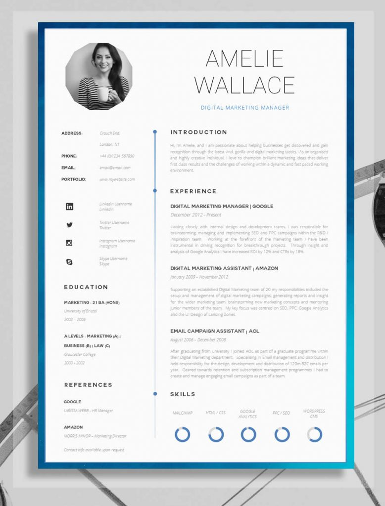 template cv simple creative