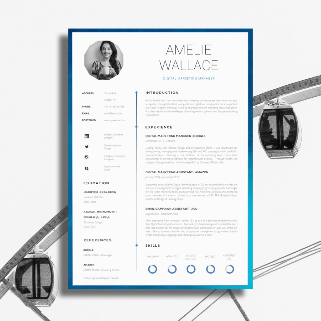 examples of creative resume