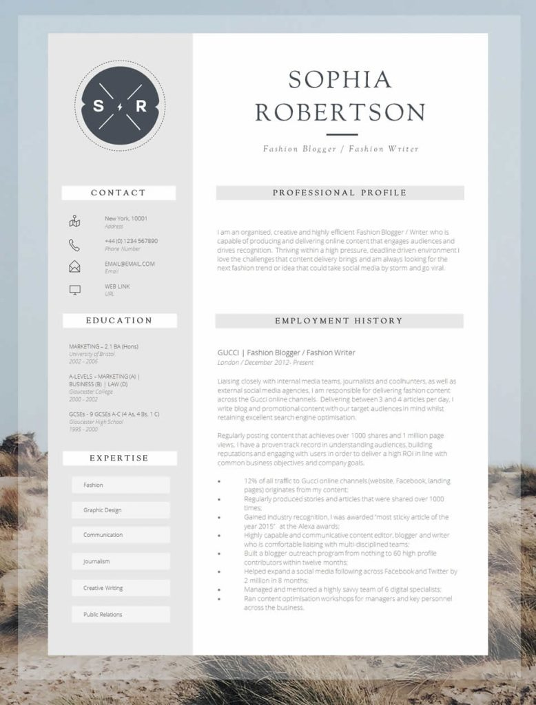 interesting cv templates