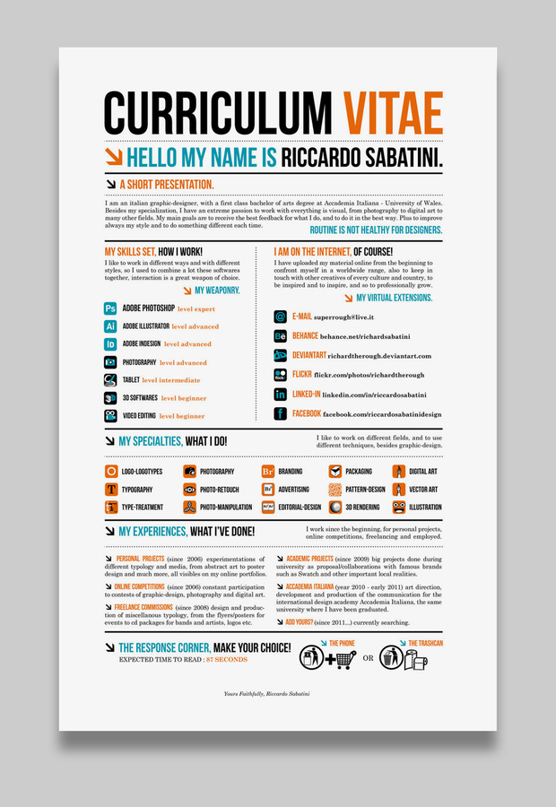 17 Awesome Examples of Creative CVs / Resumes Guru - sample creative resume
