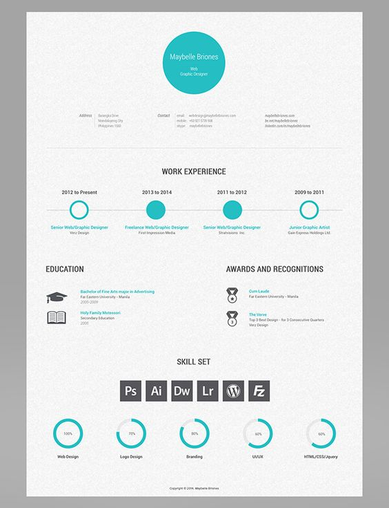 43 Modern Resume Templates Guru - cv designs