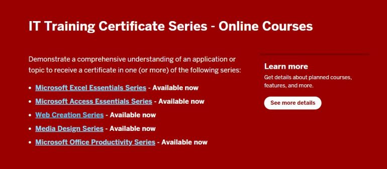 Earn a Certificate from IT Training  We Are IU