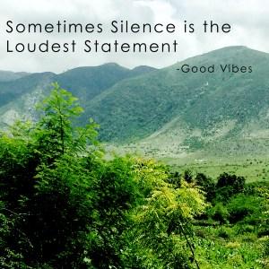 A Call For Silence