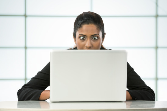 Surprised Indian Business woman- Imposter syndrome