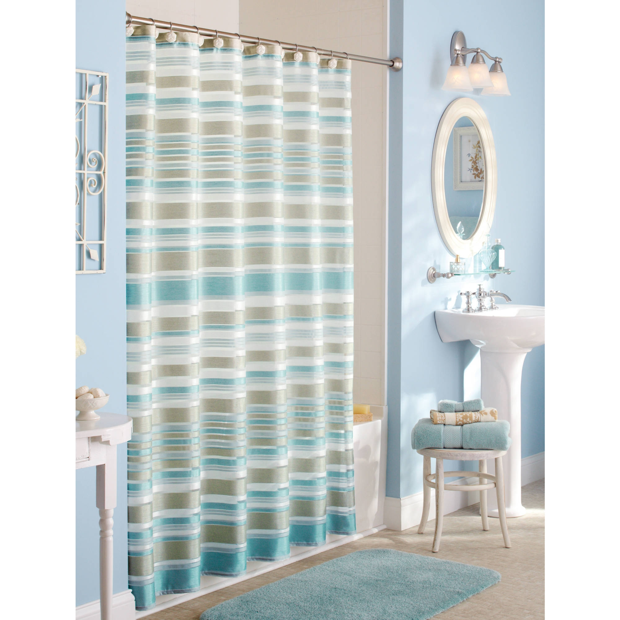 Yellow Fabric Shower Curtain Blue Yellow And Brown Shower Curtains Shower Curtains Ideas