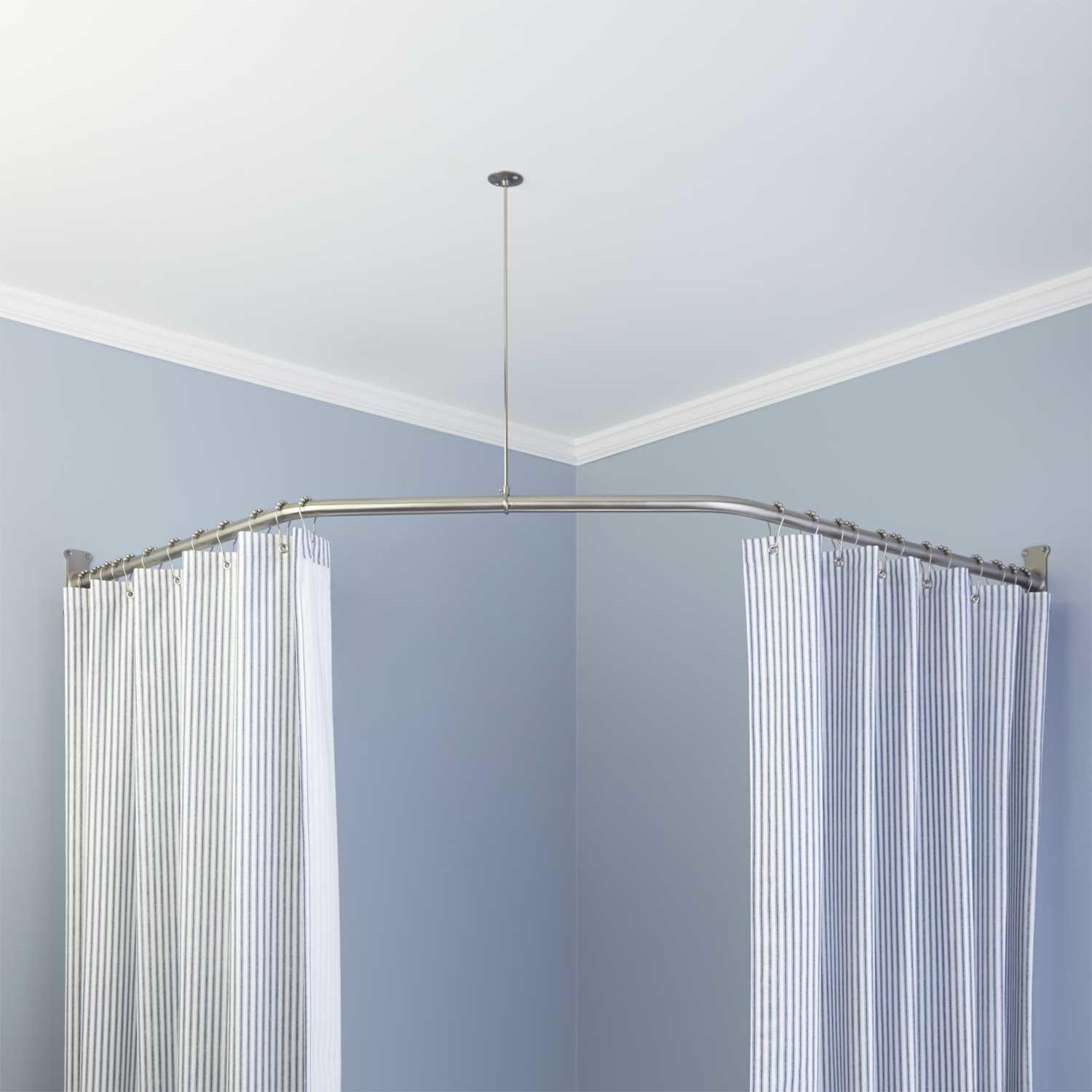 Ceiling Mount Track Curtain Rods Ceiling Mounted Shower Track Ceiling Mount Shower Ceiling