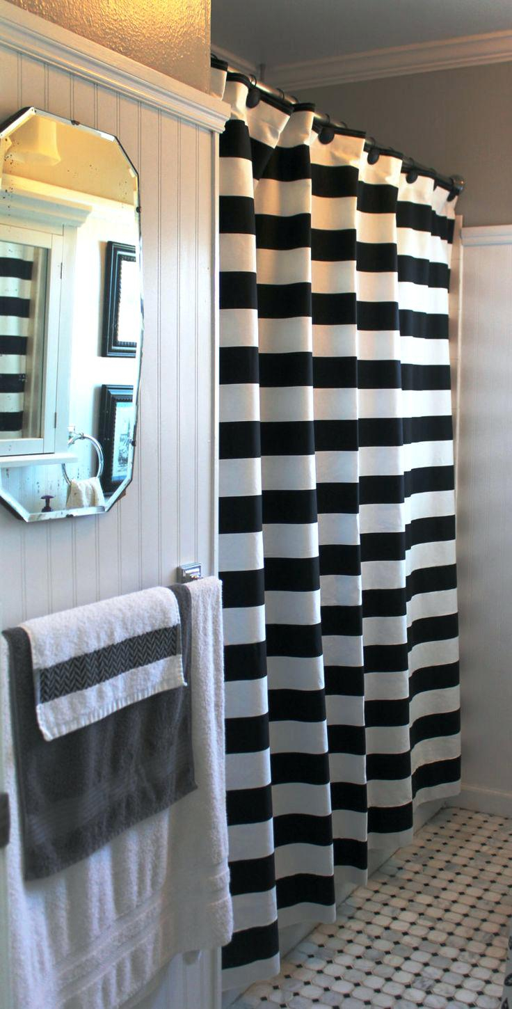 Black Stripe Curtains Pink And Black Striped Shower Curtain Shower Curtains Ideas