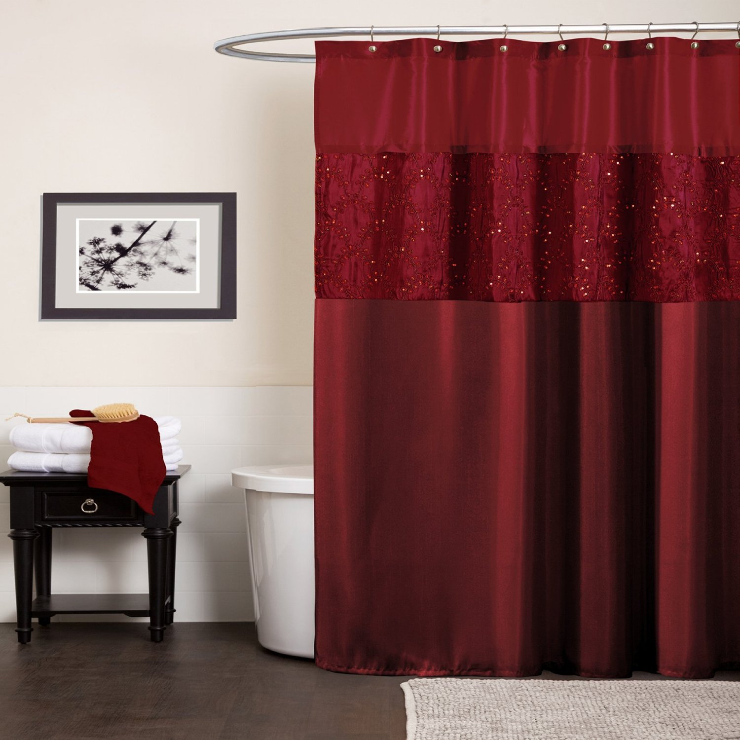 Red And Black Shower Curtain Set Black And Red Shower Curtain Set Shower Curtains Ideas