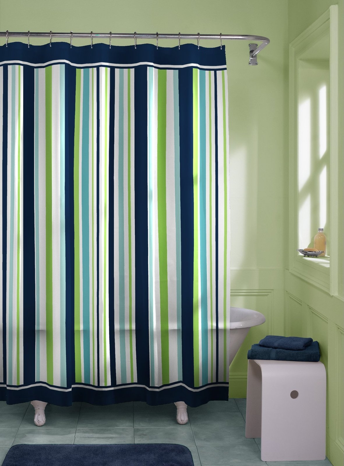 Red And Green Curtains Lime Green And White Striped Shower Curtain Curtain