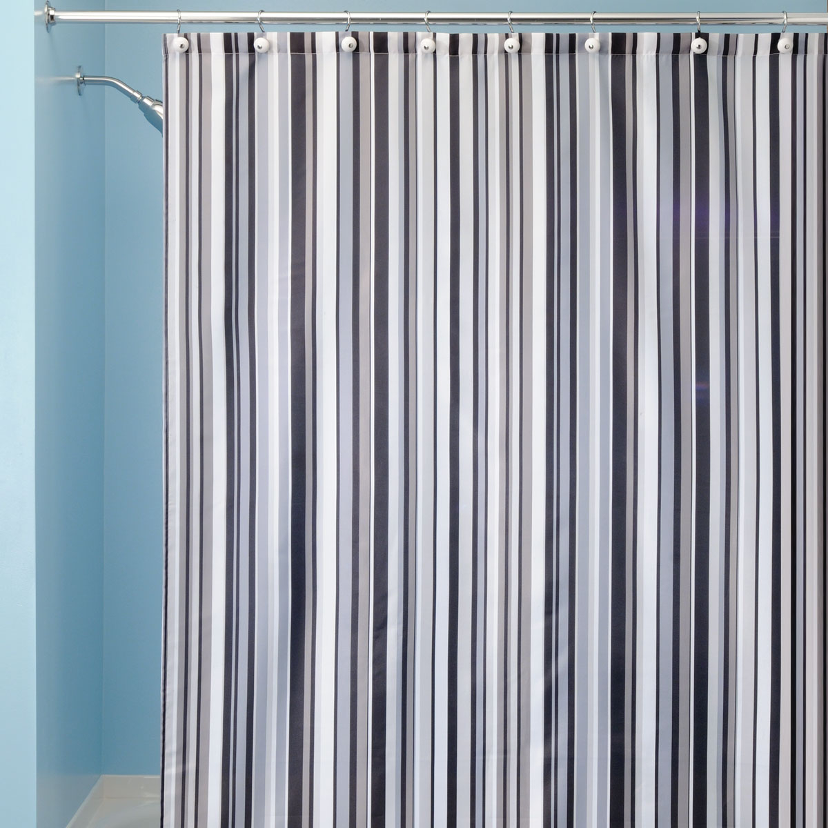 Grey Blue Curtains Blue And Grey Striped Shower Curtain Curtain Menzilperde Net