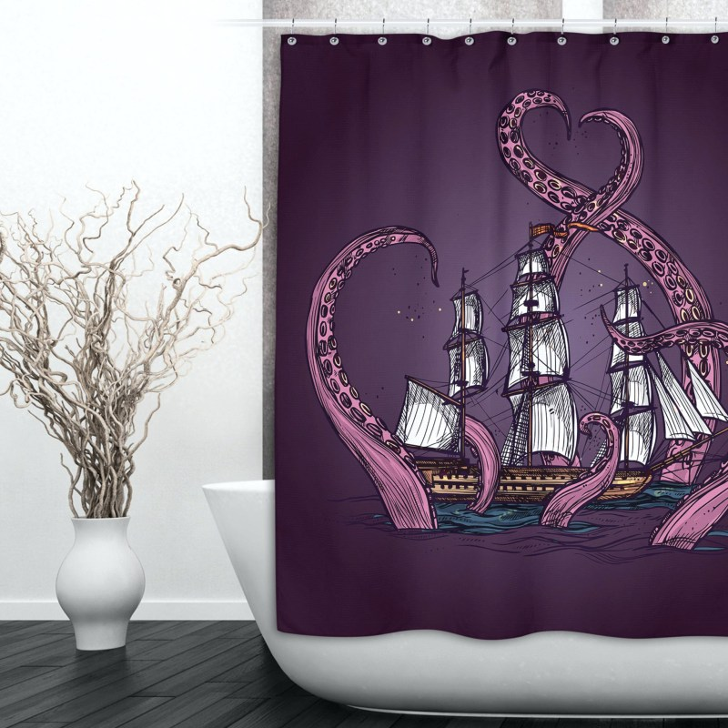 Large Of Octopus Shower Curtain