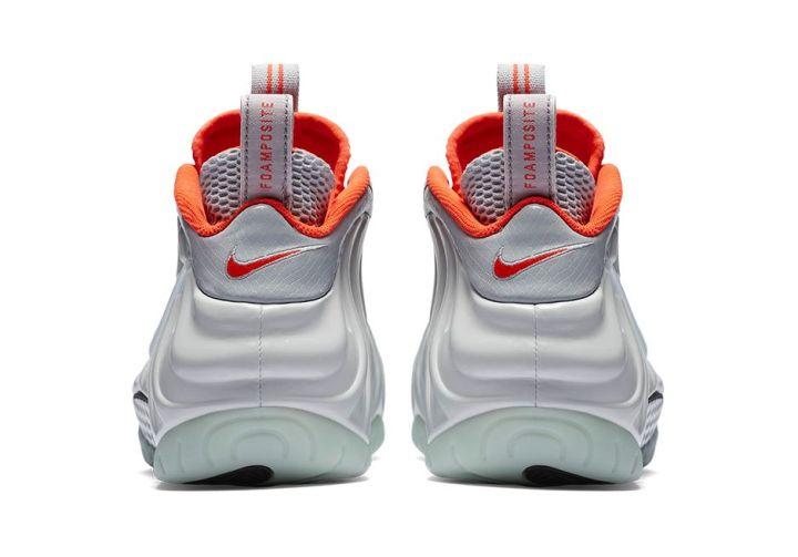 Nike Foamposite Pro Pure Platinum Yeezy heel
