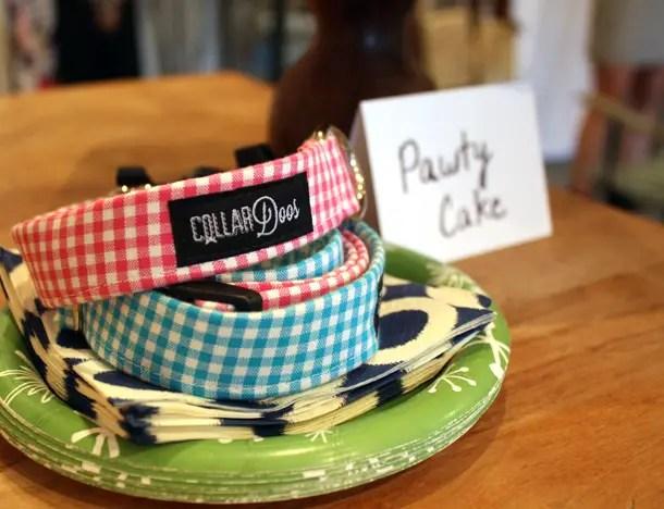 Blogiversary Party Doggie Cake Recipe Gingham Collar