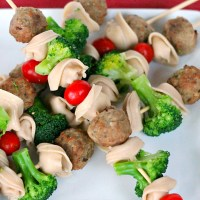 Meatballs and Pasta Skewers: A Kid Friendly Dinner!