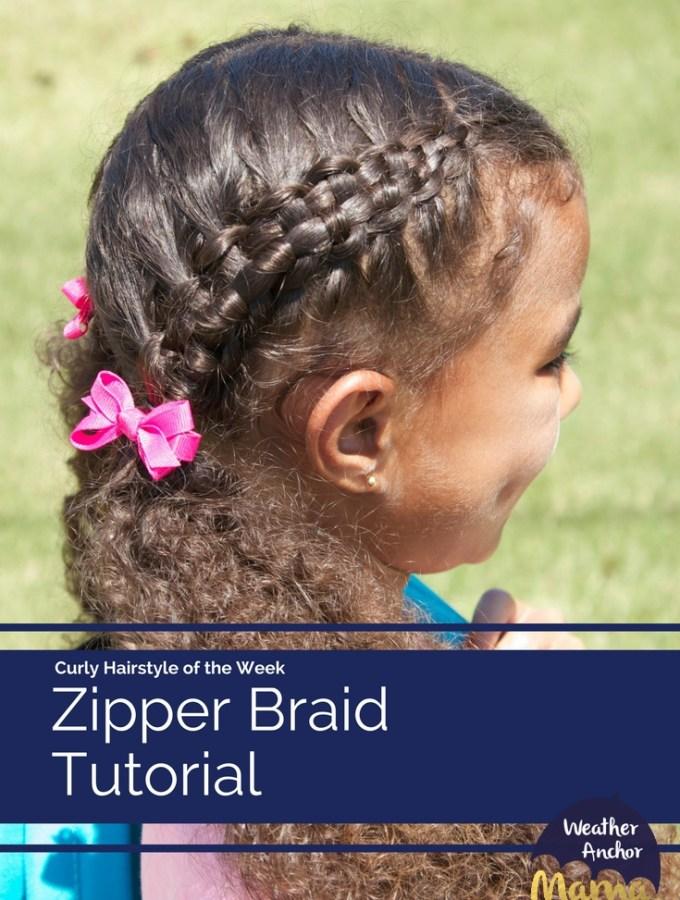 zipper braid curly hair tutorial braided hairstyle