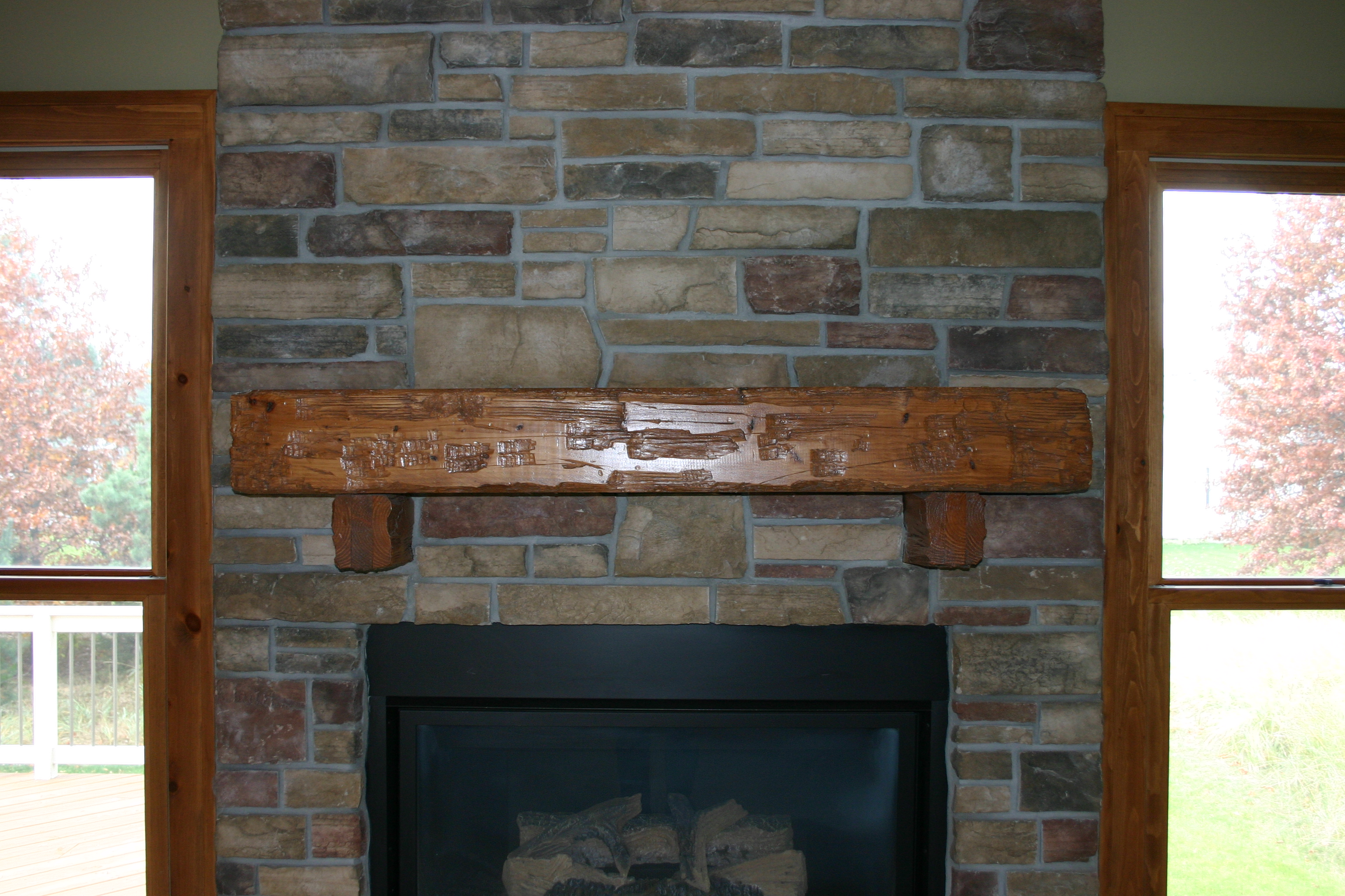 Fireplace Beams Mantel Holland Mi Weatherwax Construction