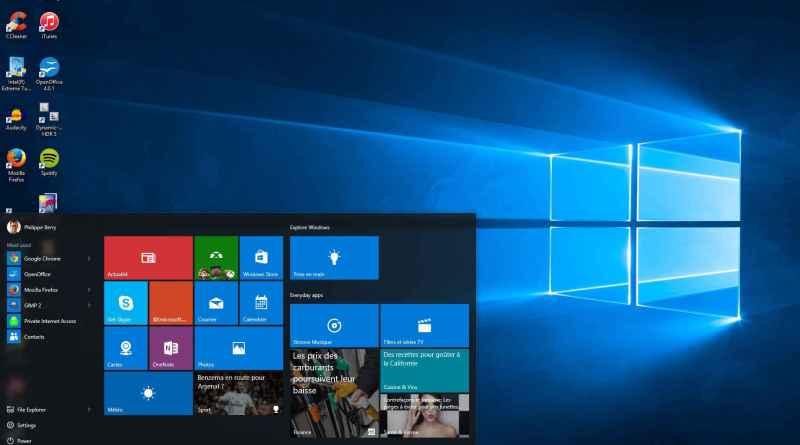 Lancement officiel de windows 10 avec tous ces version