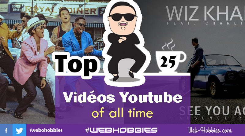 Classement video youtube : Top 25 vidéos of all time