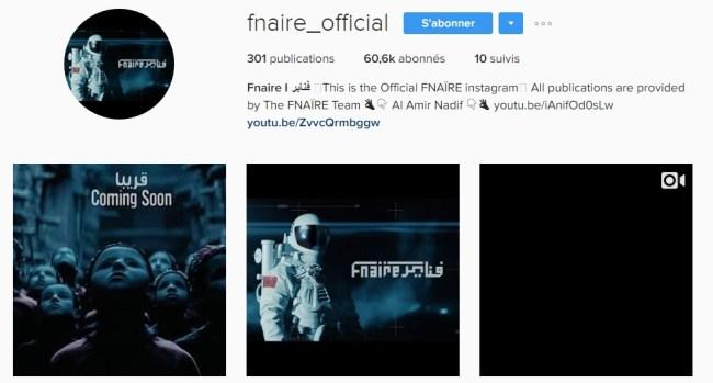 Instagram de Fnaïre - Rap Maroc 2017