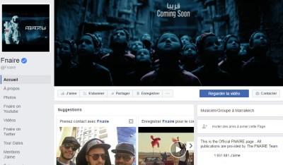 Page Facebook de Fnaïre - Rap Maroc 2017