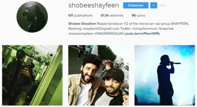 Instagram de Shobee - SHAYFEEN
