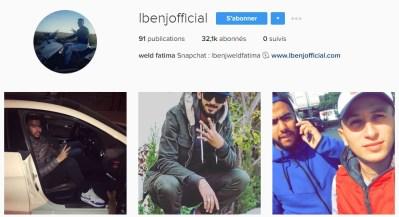 Instagram de Lbenj W.F - Rap Maroc 2017