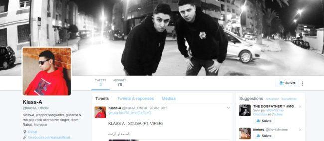 Twitter de KLASS A - Rap Maroc 2017