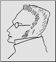 Fig. II: Max Stirner Pencil sketch, inscription reads «Max Stirner. Drawn from memory by Frederick Engels, London , 1892».