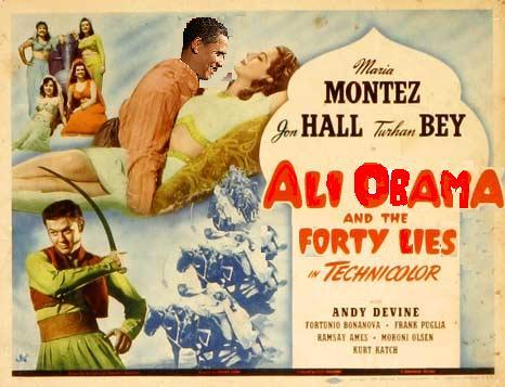 Obama as Ali Obama & The 40 Thieves