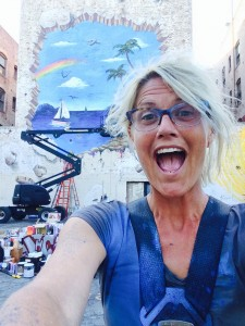 Annie in the finale of Street Art Throwdown