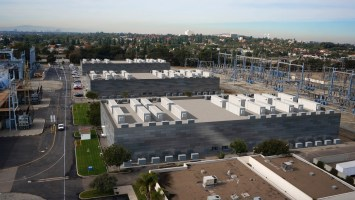 A rendering of AES's planned battery storage facility in Los Alamitos