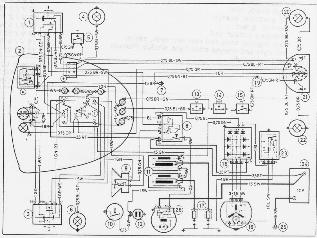 a v cable wiring diagram