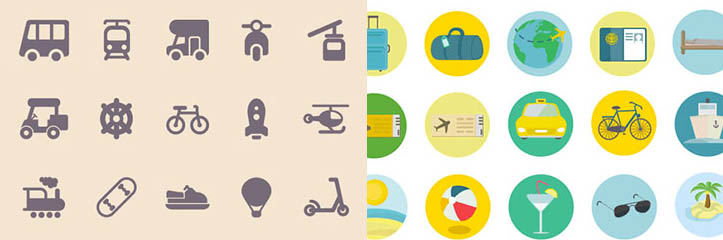 あなたが旅行サイトで使える11のアイコンセット