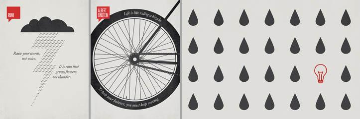 27のクレバーなイラストを使ったミニマルなポスターのインスピレーション