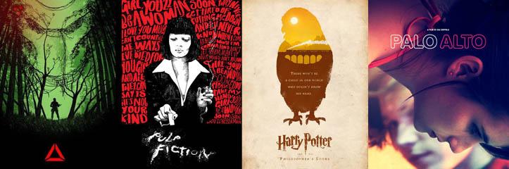 34枚の美しくデザインされた映画ポスター