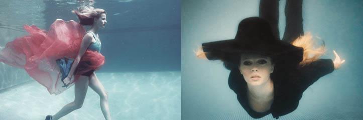 水中のファッションフォトグラフィー by Claudia Legge