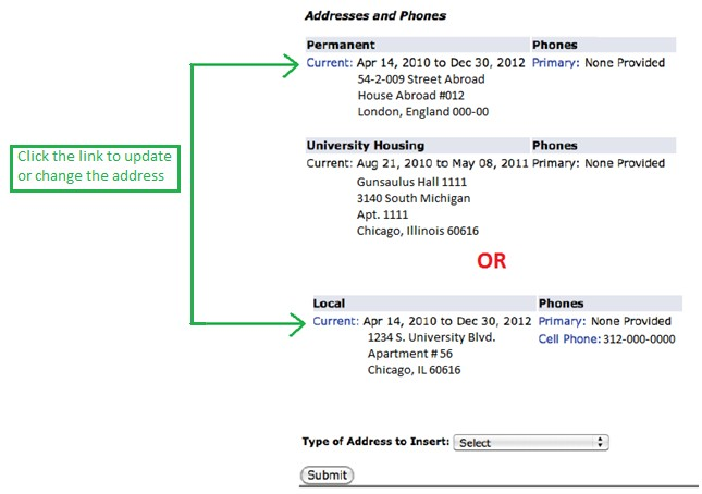 How to Update Your Address International Center Illinois