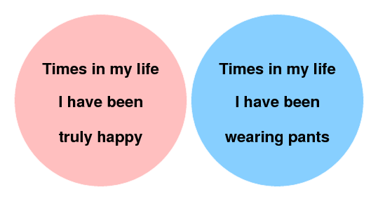 venn diagram pants