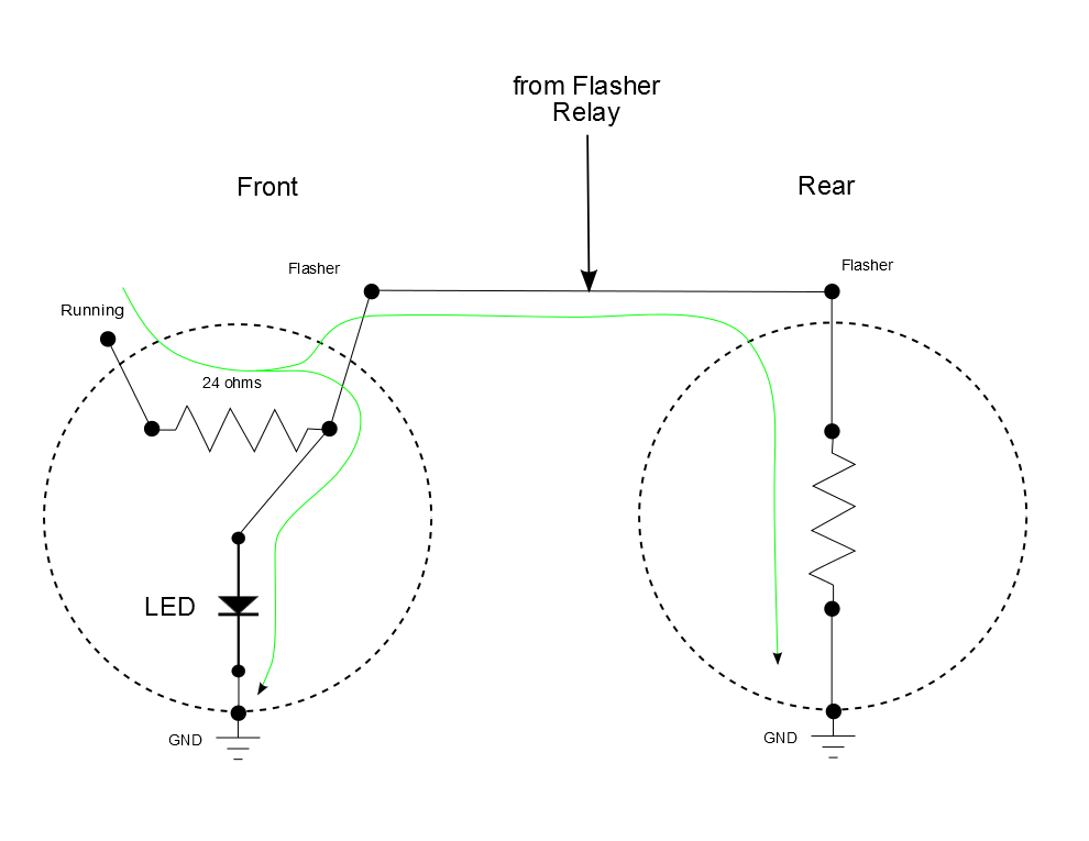 here is another led flasher circuit