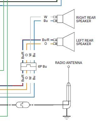 audio system wiring schematic/diagram - GL1800Riders